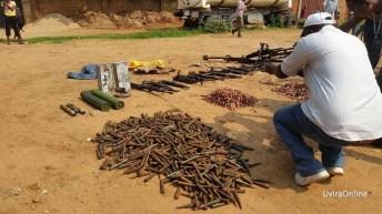 Mutarule-RDC: Des munitions et armes lourdes appréhendées à Mutarule