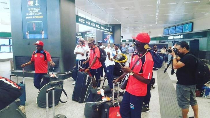 Amical-Roumanie vs RDC : Les joueurs locaux sont arrivés en Italie.