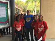 Golden Key President Douglass Simpson leads a 4th grade class on the walking tour of the UVI campus. (Photo Credit: Arige Shrouf)