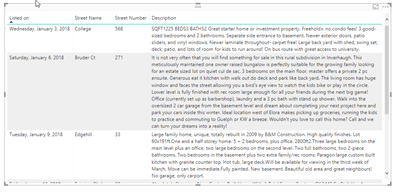 Unformatted rich text in a Power BI table