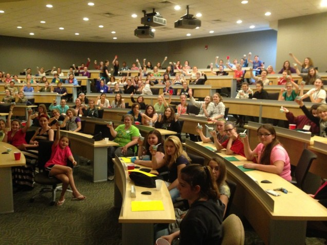 Girls Science Discovery Day ended with ice cream from Ben and Jerry's, courtesy of the UVM Davis Center.