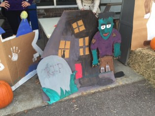 One of the 'spooky scenes' created by College of Medicine students for the Halloween trick-or-treating event in Winooski.