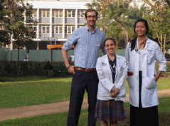 From left: Ian McDaniels '16, Tamar Goldberg '15 and Annie Huang, M.D. '14