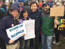 Wyatt Chia with fellow marchers in Boston, Mass.