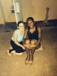 Tamar Goldberg and her host sister, Nyce.