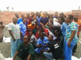 Dr. Sadigh with the ETU team.