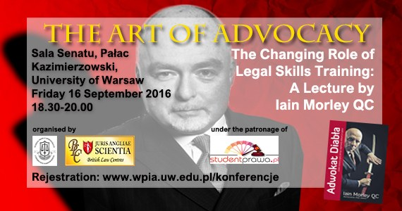 """Iain Morley QC lecture """"The Art of Advocacy"""""""