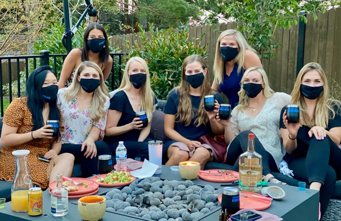 Women United Members at Power of Your Purse 2020 - in coronavirus masks