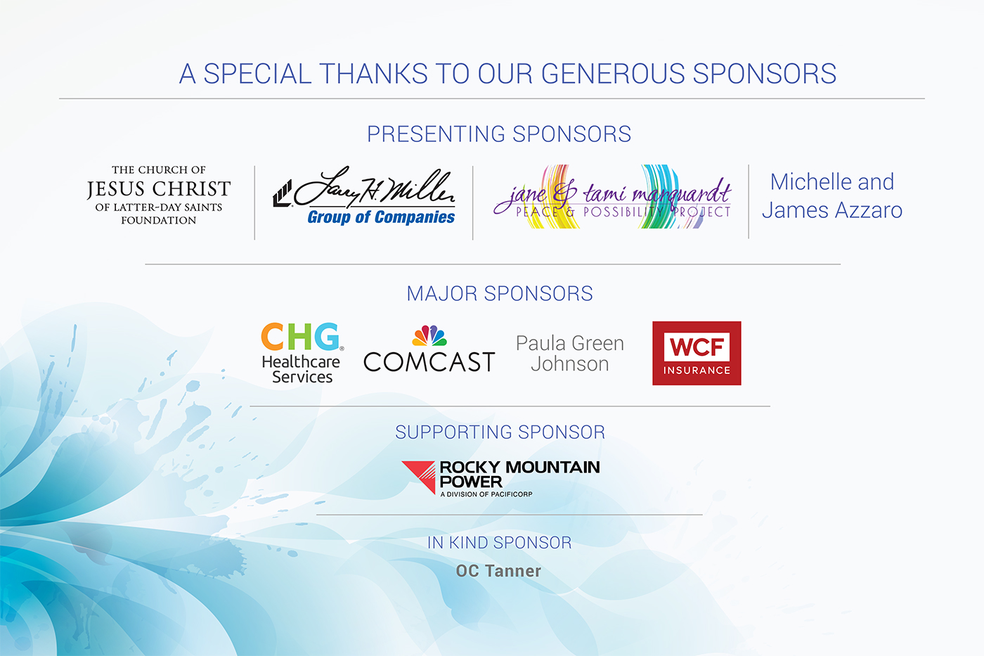 Power of Your Purse sponsors