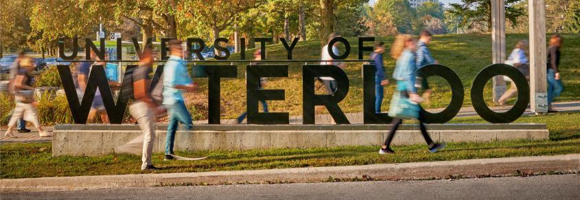University of Waterloo sign