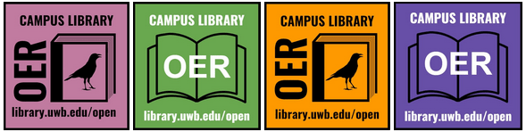 UWB/CC Library OER sticker set image