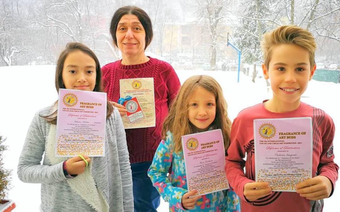 Uwekinder с успех от международни конкурси за детско творчество