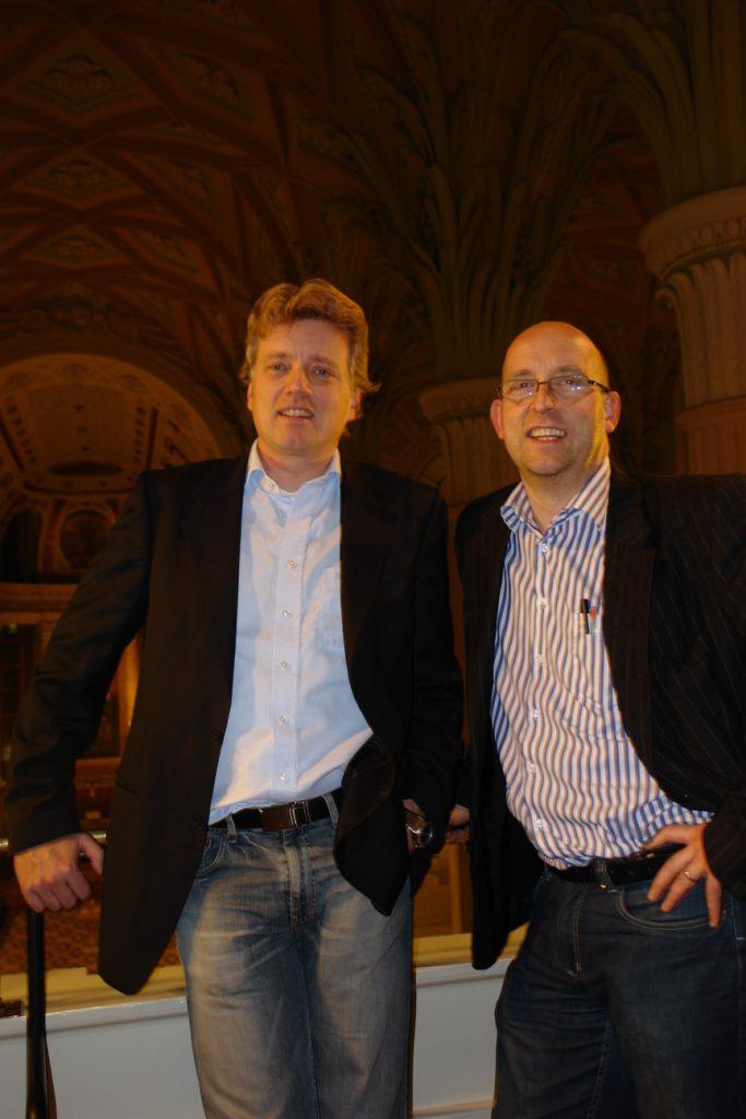 Martin und Uwe in der Nikolaikirche