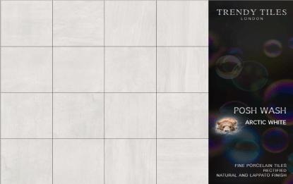 Posh Wash Arctic White by Trendy Tiles