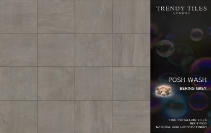 Posh Wash Bering Grey by Trendy Tiles