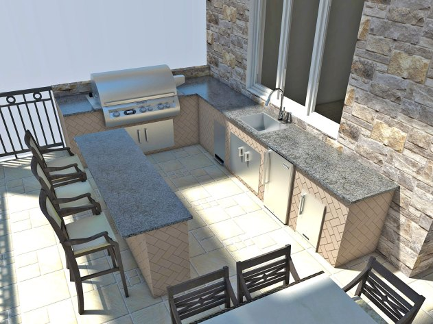 Outdoor Kitchen by Ambience