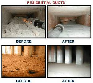 Air Duct Cleaning - Before & After