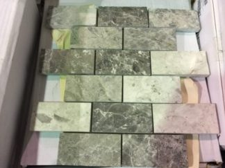 "Valensa Grey 2""x4"" Mosaic - Wall Tile / Backsplash"