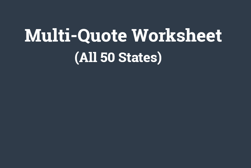 Multi Quote Worksheet Auto