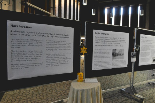 A timeline of how the Holocaust began was displayed at the Holocaust Exhibition. Photo by Ju Hyun Kim