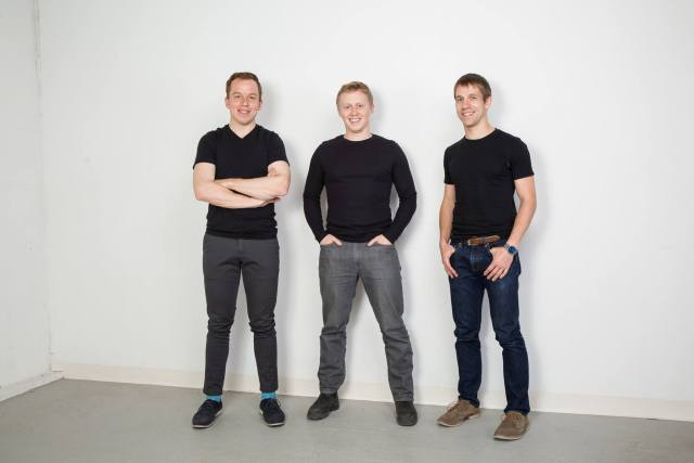 Co-founders of Thalmic Labs (from left to right: Stephen Lake, Matthew Bailey, Aaron Grant). Photo courtesy Thalmic Labs