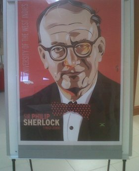 Poster of UWI founding father Sir Philip Sherlock.