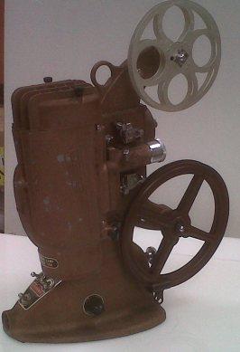 Film projector circa 1946