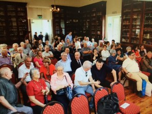 Engaged audience at the Gibraltar Camp lecture on May 21.