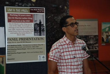 SHP's Prof Matthew Smith at launch of UWI & the 1960s