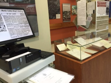 MLK pop-up exhibition at the UWI Museum