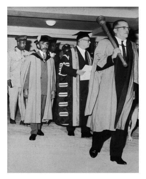 Special Convocation to grant an Honorary Degree to Emperor Haile Selassie, 22 April 1966