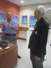 Norman Girvan with former University Archivist John Aarons in the UWI Museum in October 2013