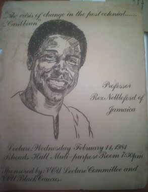 Poster of Prof Rex Nettleford in UWI Museum Collection