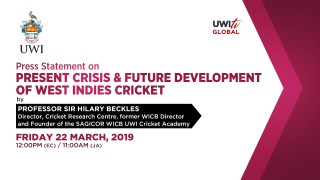 West Indies Cricket Press Statement by Professor Sir Hilary Beckles