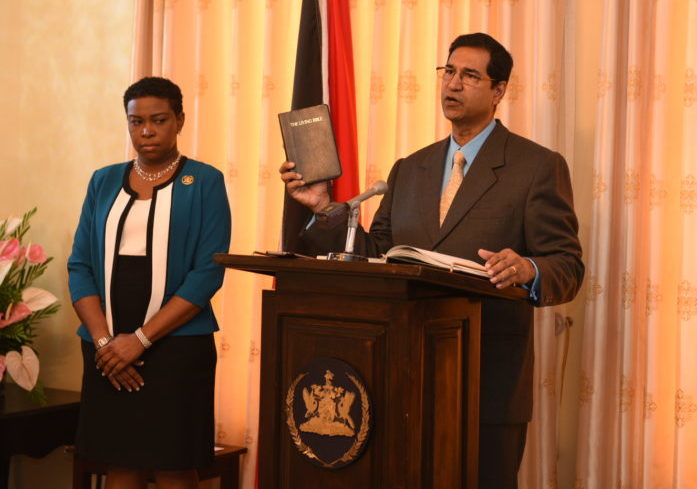 The Hon. Mr. Justice Jamadar takes the oath of office