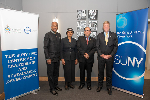 L-R: Vice-Chancellor of The University of the West Indies (UWI), Professor Sir Hilary Beckles; Permanent Observer of CARICOM to the United Nations, Ambassador Angela Missouri Sherman-Peter; Dr. Luis Felipe López-Calva, Assistant Secretary