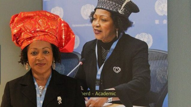 Prof Verene Shepherd _temporary exhibit of black achievers at UN, New Yo…