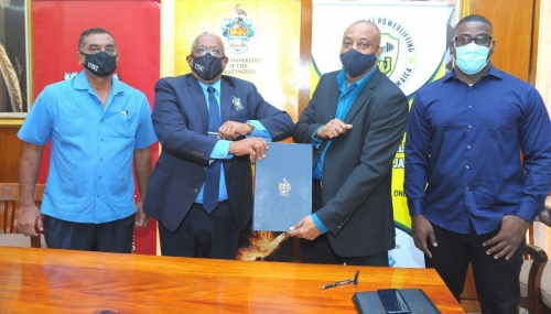 uwi_and_npaj_sign_mou_to_boost_the_development_of_powerlifting_in_jamaica