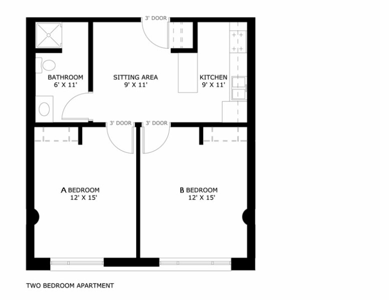 What Is The Average Size Of A 2 Bedroom Apartment Nrtradiant Com