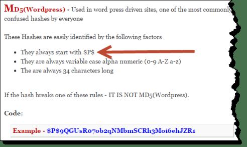 hash md5 wordpress
