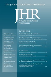 Journal of Human Resources cover image