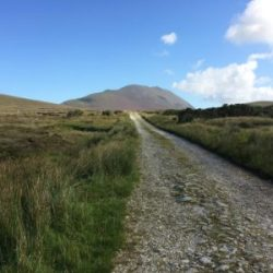 Plains of Achill Island and Mountain