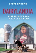 Book cover showing Mona Lisa in Wisconsin Rose Bowl shirt painted on side of barn with cows in front.