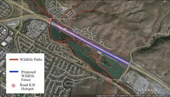 HWY 85 and 101 underpass corridor on Coyote Creek. A path between Santa Cruz Mountains and Mt. Hamilton Range.