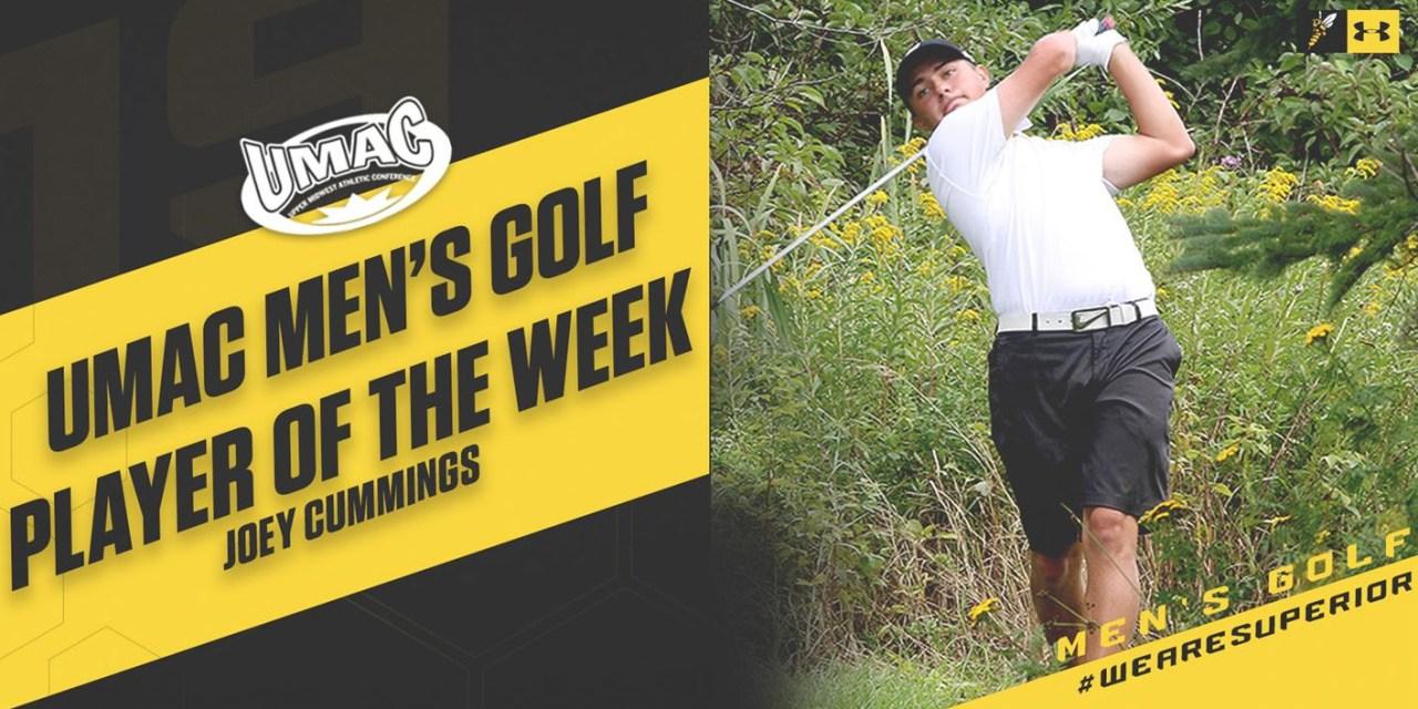 Cummings named UMAC Men's Golf Player of the Week