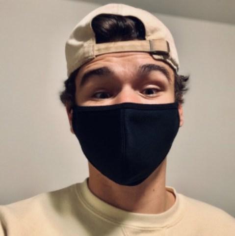 Jeffrey McClure wearing a mask