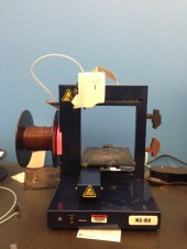 3-D printer. Note the label on the front.
