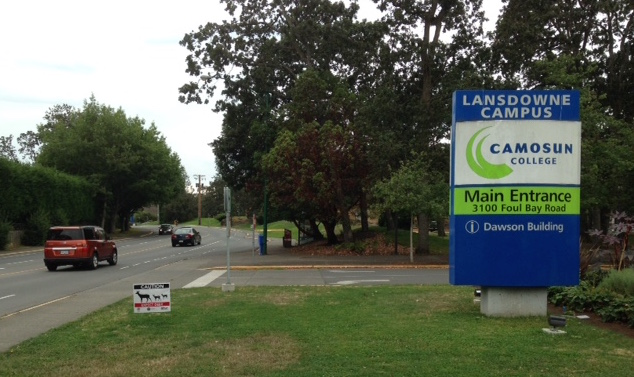 Camosun College joins in Cautioning Drivers to Slow Down!