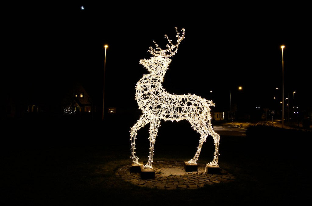 The imagery of deer at Christmastime