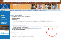 You'll end up on this page. When you scroll down, you will find a bunch of openings on campus! Make sure you check this often! Some jobs have more than one opening, so make sure to look at all of them! When you click on an opening, you will find all the info on the job, as well as who should contact for applying.